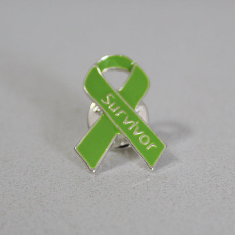 Lyme Awareness Survivor Ribbon Pin
