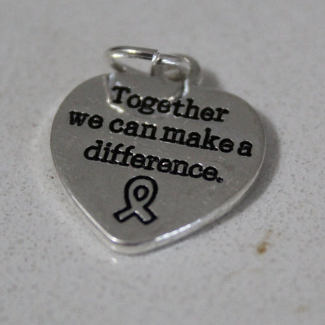 Lyme Awareness Heart Charms