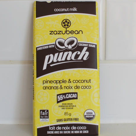 Zazubean Punch Chocolate Bar (sugar free)