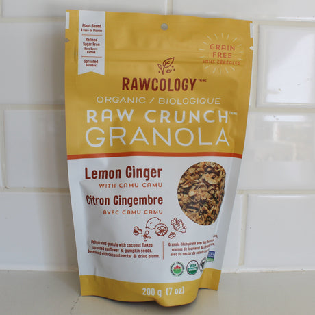 Rawcology Crunch Granola Lemon Ginger (200g)