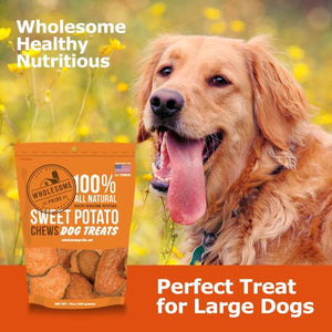Sweet Potato Dog Treats by Wholesome Pride (16 oz)