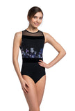 Ainsliewear Grace with Frosted Petal Print Leotard -  Girls & Adult sizes