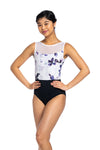 Ainsliewear Camille with Frosted Petal Print Leotard - Adult sizes