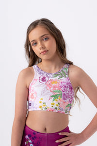 Secret Garden Reversible Cropped Singlet by Sylvia P