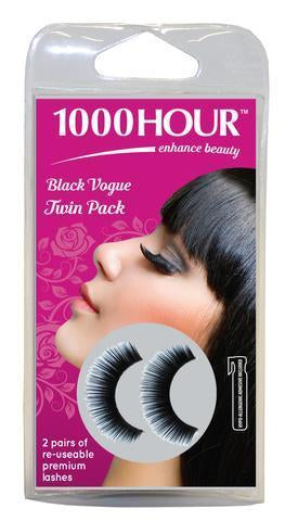 1000 Hour Eyelashes - Black Vogue