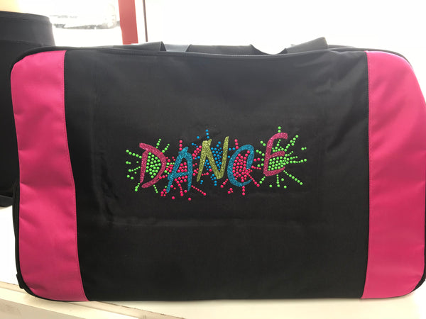 Pink & Black Large Dance Bag