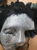 Silver and Black Face Mask