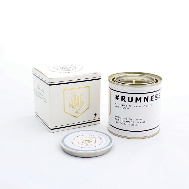 #RUMNESS | Code Manly, Scented Candle