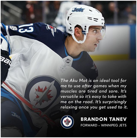 <p>Aku Mat testimonial from Brandon Tanev Winnipeg Jets forward - Image</p>