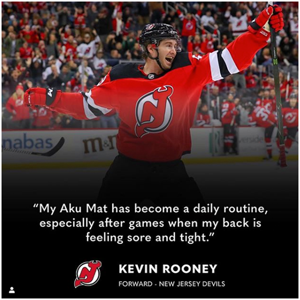 <p>Aku Mat testimonial from Kevin Rooney New Jersey Devils forward - Image</p>