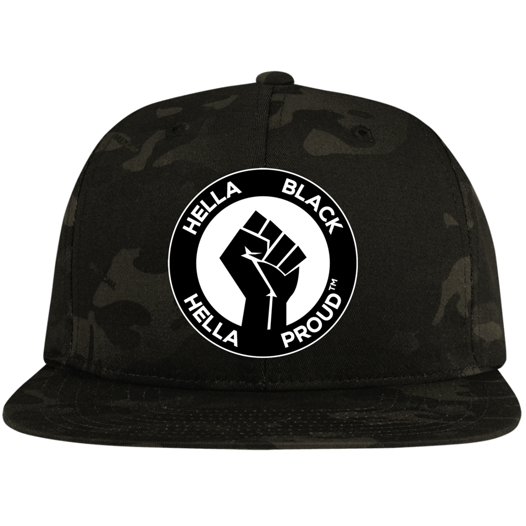 Hella Black. Hella Proud. ™️ Flat Bill High-Profile Snapback Hat