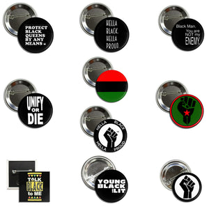 Black Power Button Pack