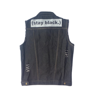 Stay Black Denim Vest