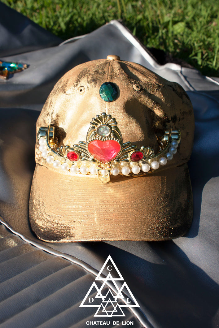Gold Tiara hat