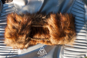 Gold Chain Vegan Fur Accessory