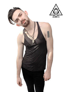 T back Chain Tank Top