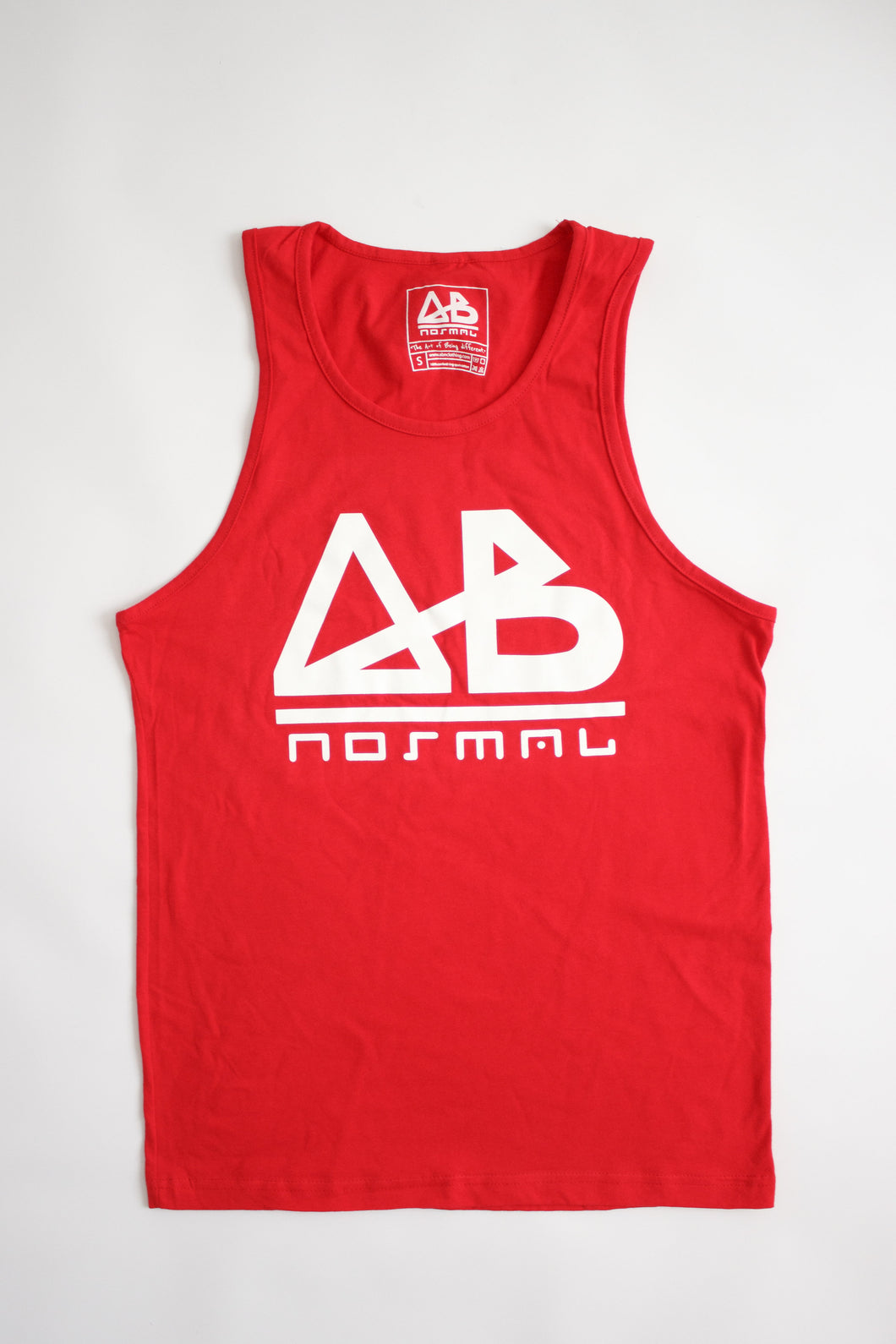 Red ABnormal Tank Top