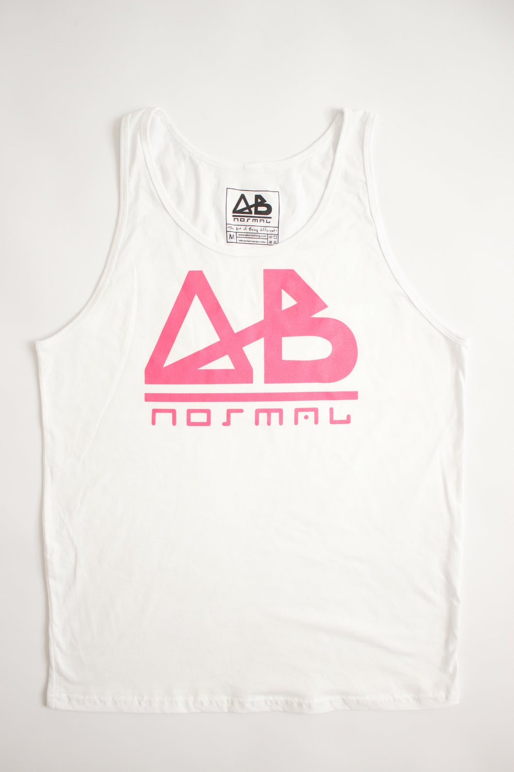 White & Pink ABnormal Tank Top