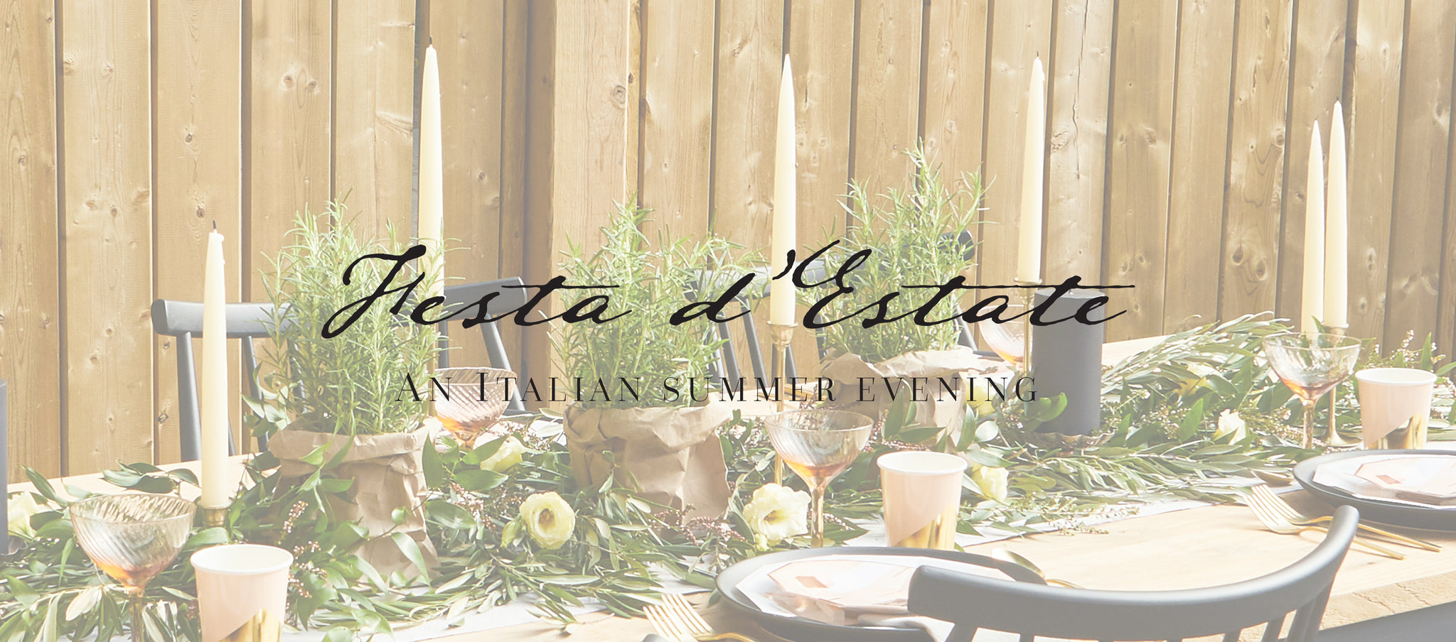 PARTY ET CIE EVENTS - AN ITALIAN SUMMER EVENING