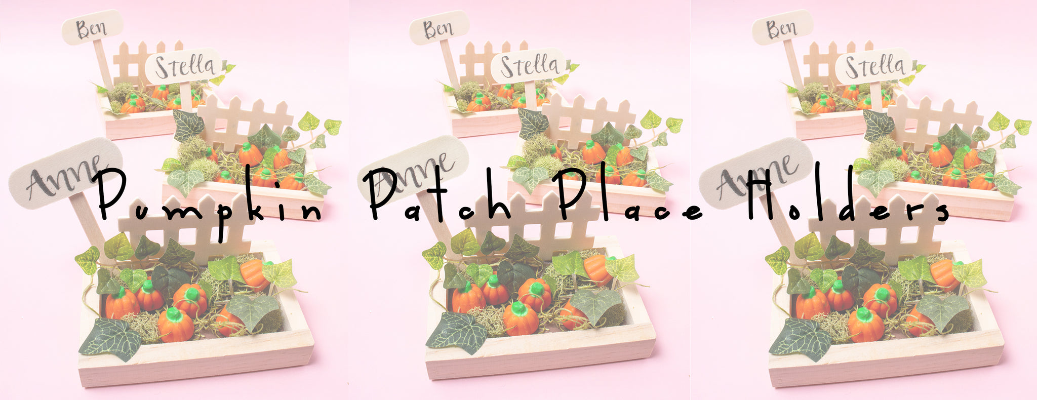 DIY - PUMPKIN PATCH PLACE HOLDERS