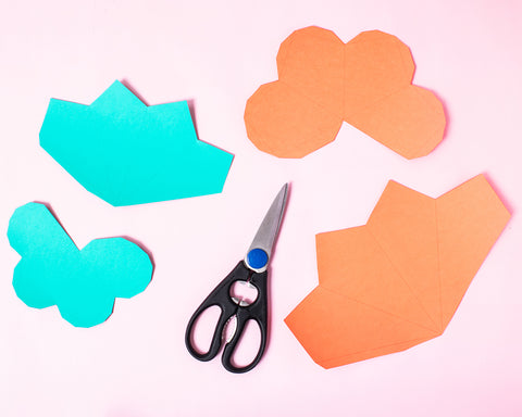 Party et Cie - Geometric Paper Ornaments - Step 1