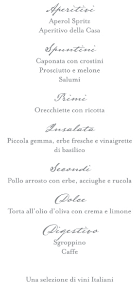 Party et Cie - Menu