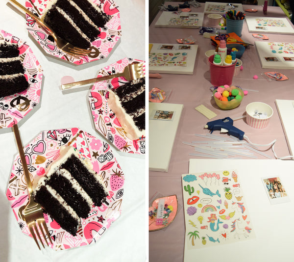 Party et Cie - A Girl Power Party cake and crafts