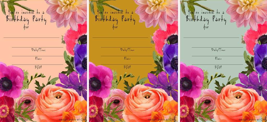 Party et Cie - Fill in Invitation