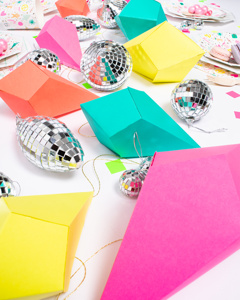 Party et Cie - Merry and Bright Geometric Paper Ornaments
