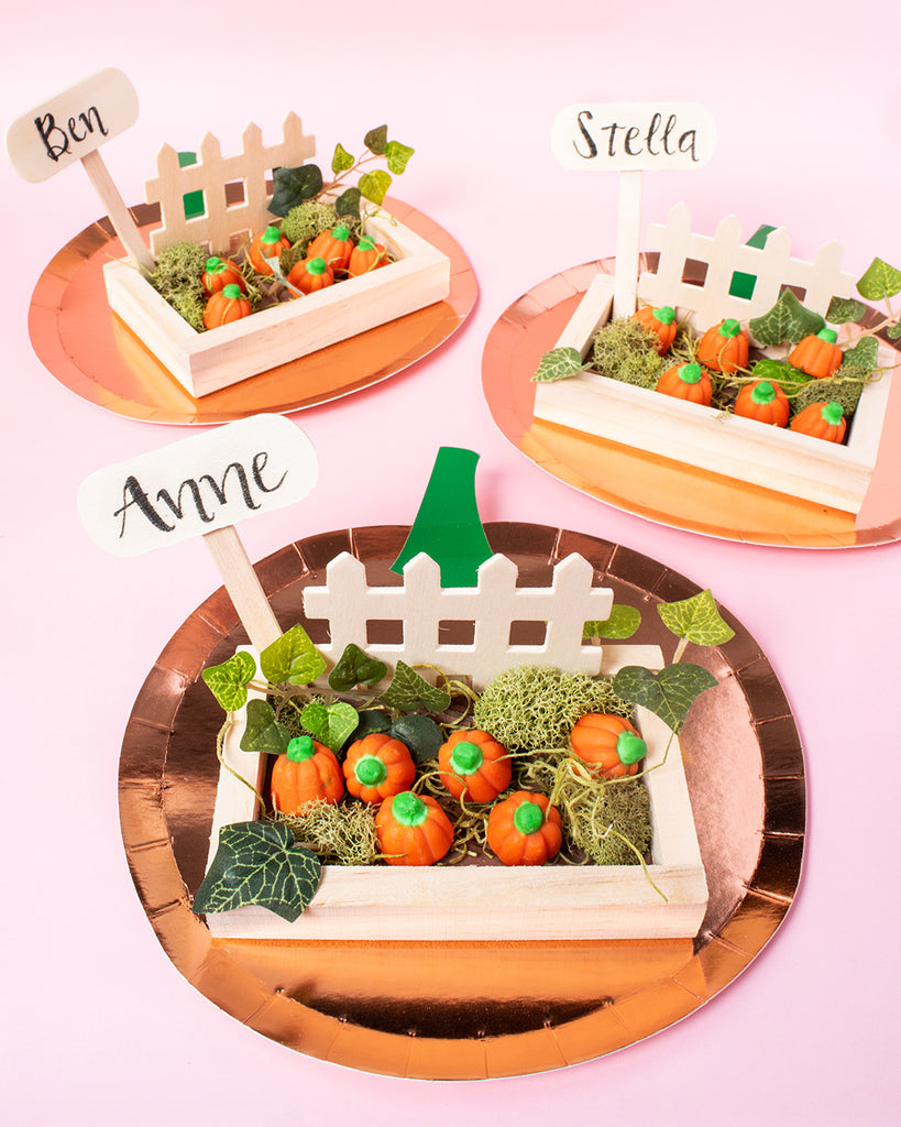 Party et Cie - DIY Pumpkin Patch Place Holders