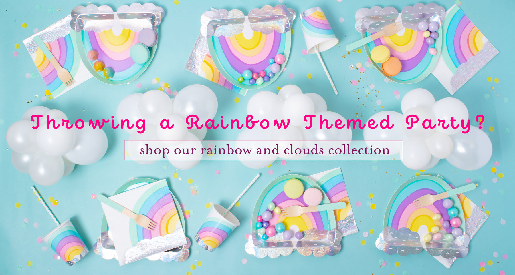 Rainbow theme party | floral gifts | winter woodland party | mini donkey pinata | boombox pinata | ombre plates | et happy birthday | partyetcie