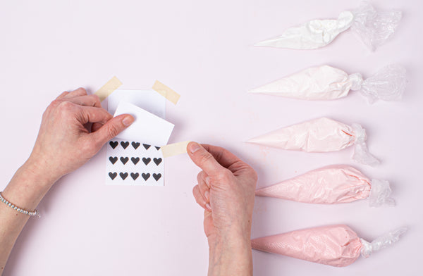 Ombre Heart Candy Buttons - Step 2