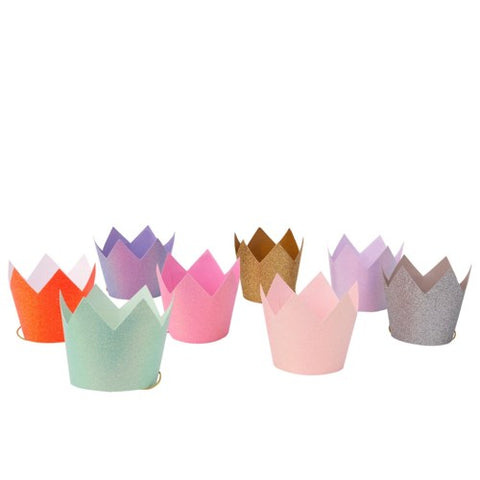 MULTICOLORED GLITTER CROWNS