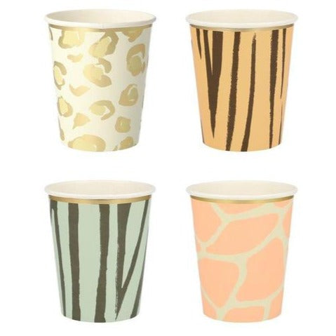 SAFARI ANIMAL PRINT CUPS