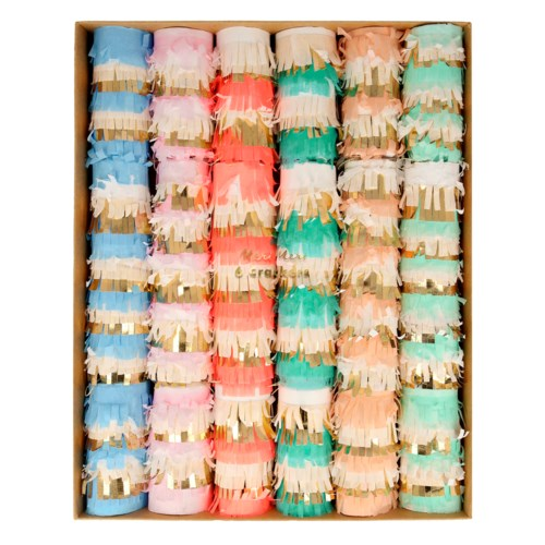 PASTEL FRINGE CRACKERS