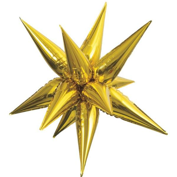 STARBURST FOIL BALLOON - GOLD 27.5""