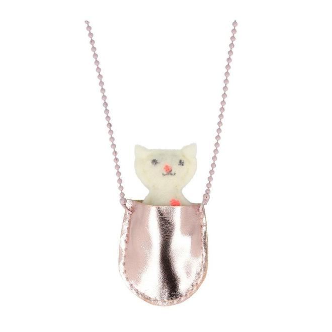 NECKLACE - POCKET KITTY CAT
