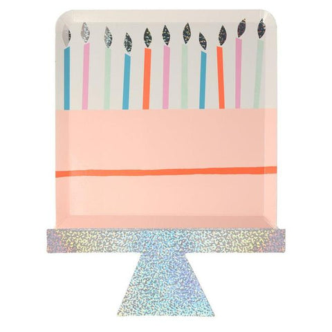 Birthday Cake Die Cut Party Paper Plates