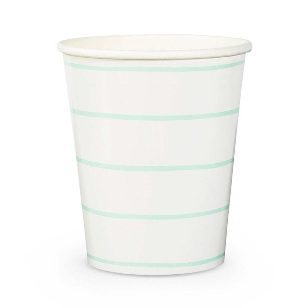 FRENCHIE STRIPED MINT CUPS