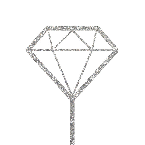 CAKE TOPPER - GLITTER DIAMOND