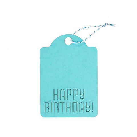 "GIFT TAGS - BLUE ""HAPPY BIRTHDAY"""