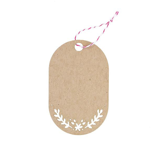 GIFT TAGS - KRAFT FLORAL