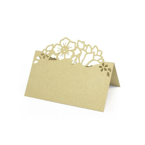 GOLD FLORAL LASER CUT PLACE CARDS