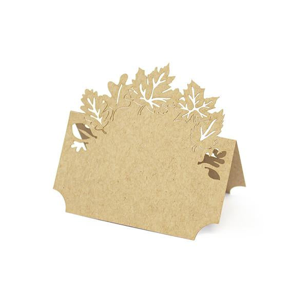 KRAFT LEAVES LASER CUT PLACE CARDS