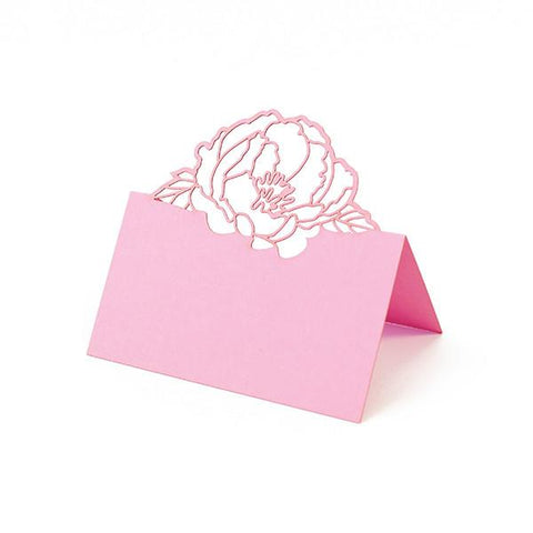PINK PEONY LASER CUT PLACE CARDS