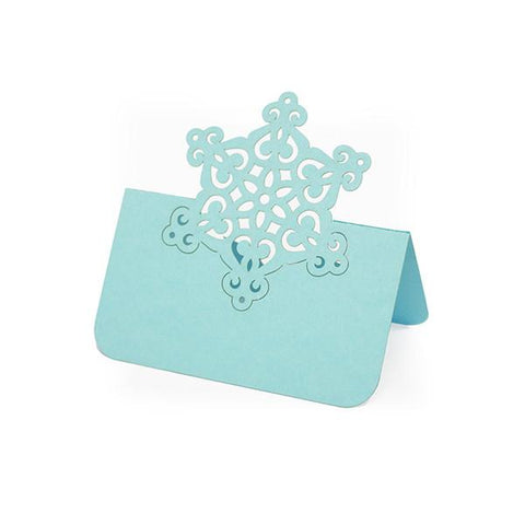 BLUE SNOWFLAKE LASER CUT PLACE CARDS