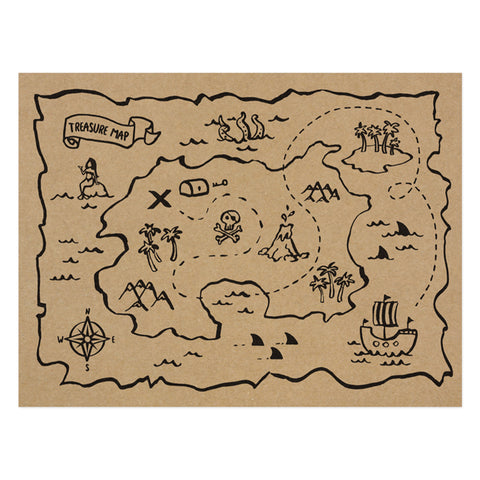 PIRATE TREASURE MAP PLACEMAT