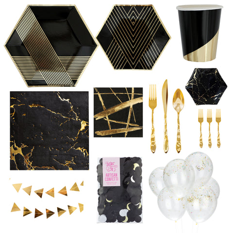 AN ART DECO EVENING PARTY BOX FOR 8