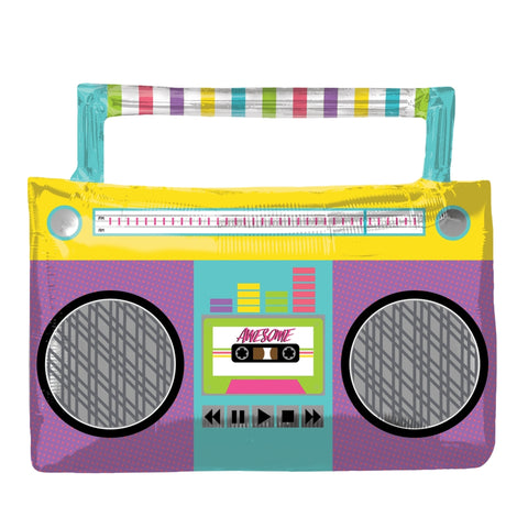 AWESOME PARTY BOOM BOX SUPERSHAPE FOIL BALLOON