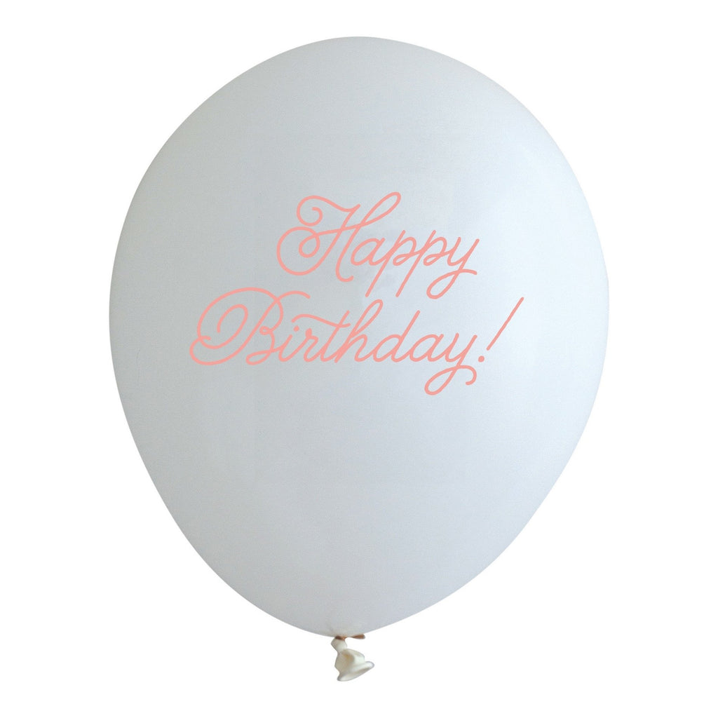 "PRINTED BALLOONS - ""HAPPY BIRTHDAY"" GUAVA"